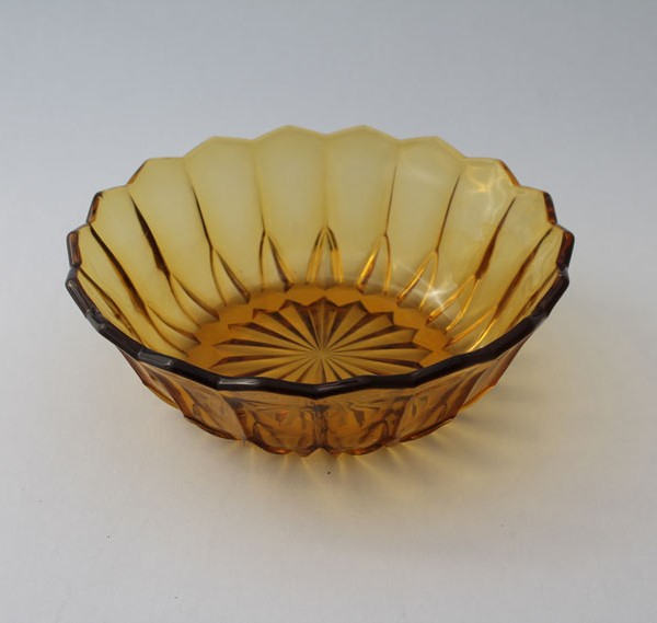 187 Yellow Depression Glass Fruit Bowl